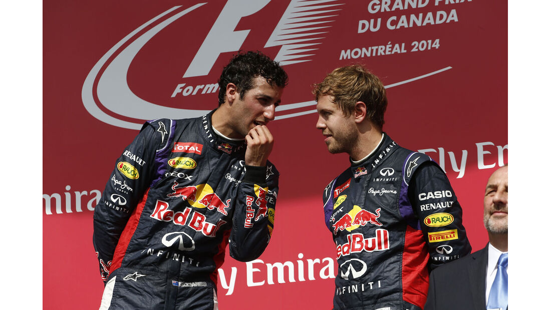 Formel 1 - Saison 2014 - GP Kanada - Ricciardo - Vettel - Red Bull