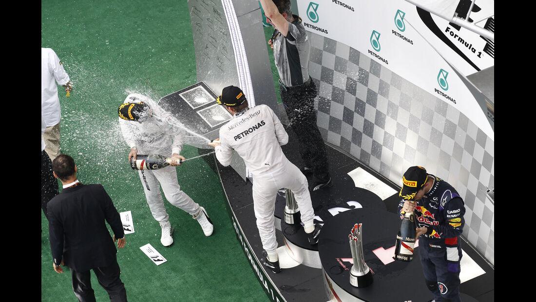 Formel 1 - Saison 2014 - GP Malaysia - Rosberg - Hamilton - Mercedes - Vettel - Red Bull