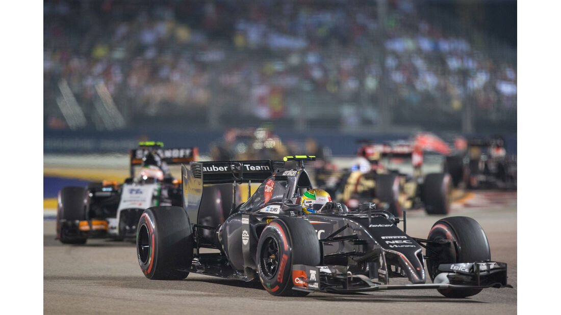Formel 1 - Saison 2014 - GP Singapur - Gutierrez - Sauber