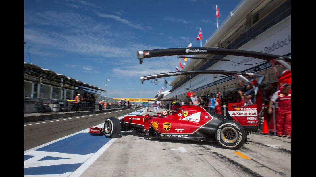 Formel 1 - Saison 2014 - GP Ungarn - Räikkönen - Ferrari