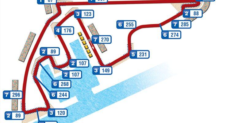 Formel 1 Strecke  Abu Dhabi