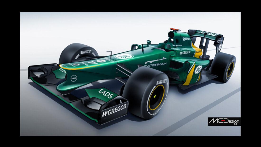 Formel 1 - Studie - Caterham 2014