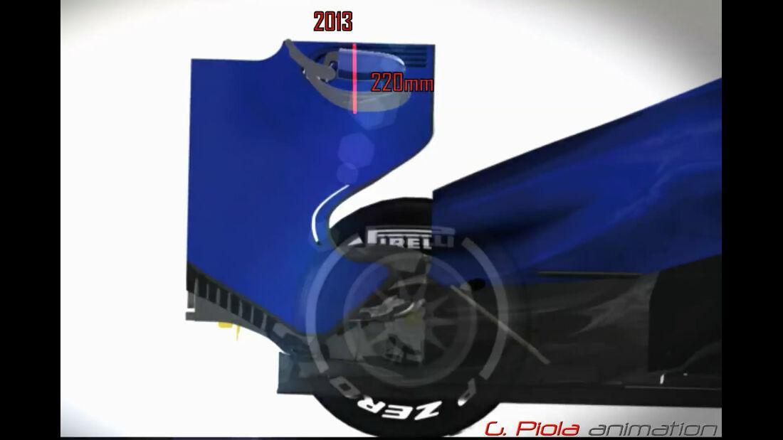 Formel 1-Technik Reglement 2014 - Piola Animation / Video