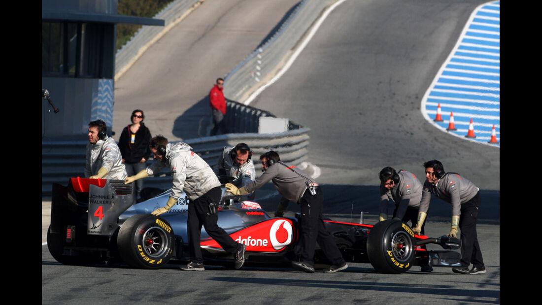 Formel 1 Test 2011 Button