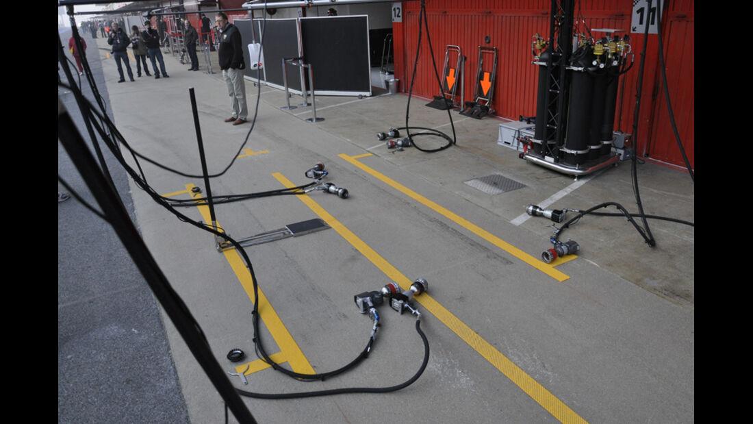 Formel 1 Test 2012 Boxenstopps