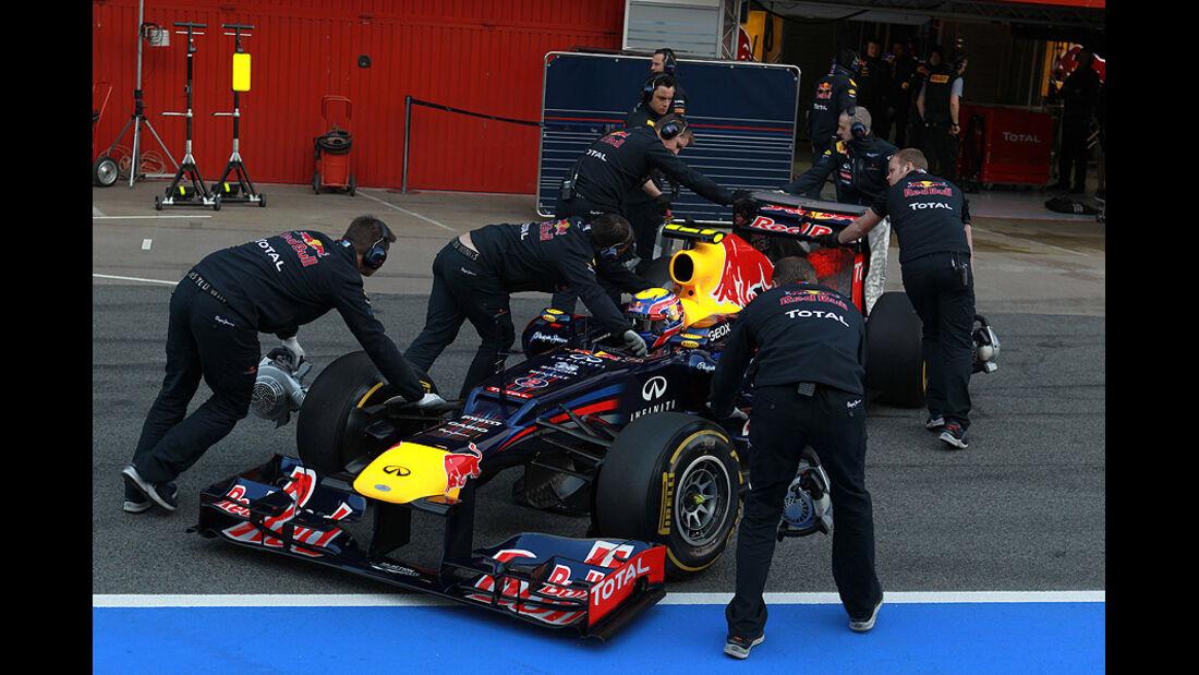 Formel 1-Test, Barcelona, 01.03.2012, Mark Webber, Red Bull