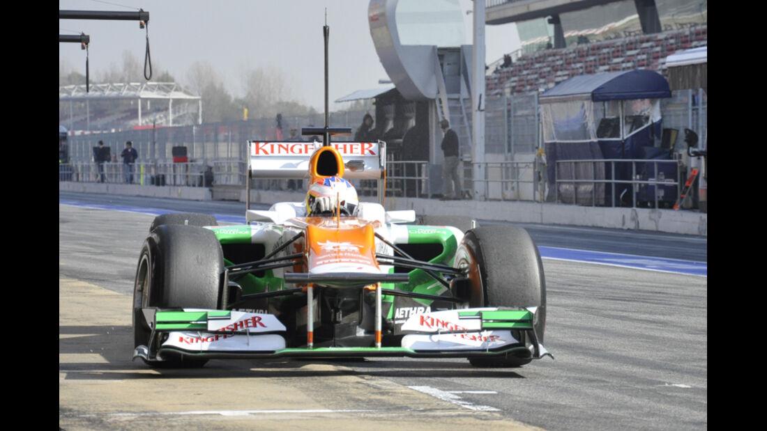 Formel 1-Test, Barcelona, 01.03.2012, Paul di Resta, Force India