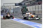 Formel 1-Test, Barcelona, 01.03.2012, Paul di Resta, Force India, Romain Grosjean, Lotus Renault GP