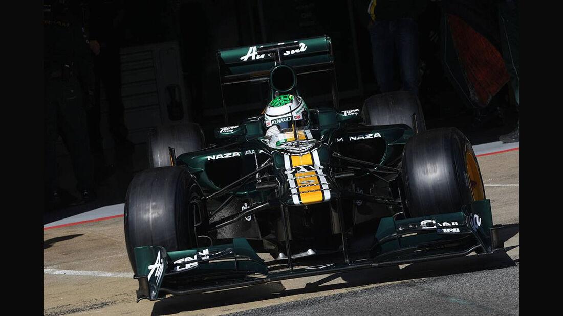 Formel 1-Test, Barcelona, 02.03.2012, Heikki Kovalainen, Caterham