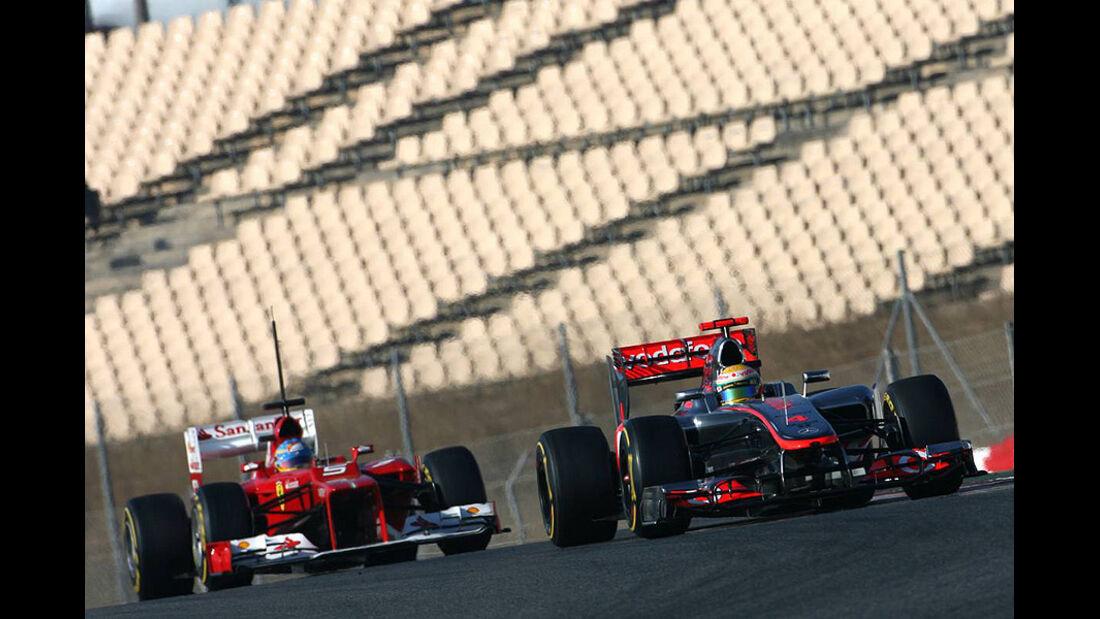Formel 1-Test, Barcelona, 02.03.2012, Lewis Hamilton, McLaren, Fernando Alonso, Ferrari