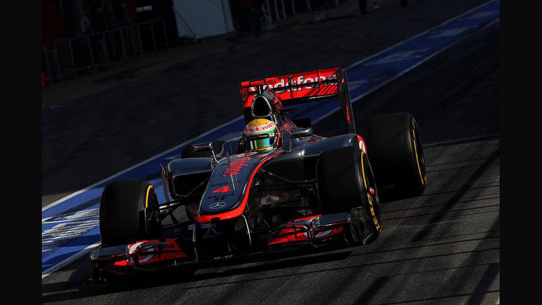 Formel 1-Test, Barcelona, 02.03.2012, Lewis Hamilton, McLaren