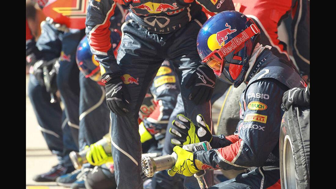 Formel 1-Test, Barcelona, 02.03.2012, Mechaniker, Red Bull