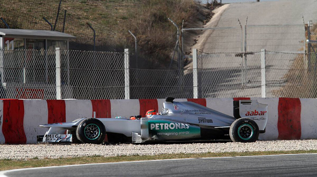 Formel 1-Test, Barcelona, 02.03.2012, Michael Schumacher, Mercedes GP