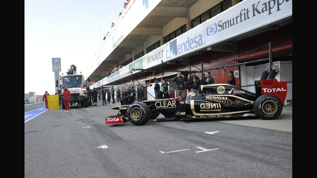Formel 1-Test, Barcelona, 02.03.2012, Romain Grosjean, Lotus Renault GP