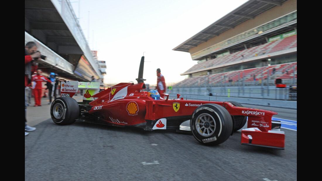 Formel 1-Test, Barcelona, 21.2.2012, Fernando Alonso, Ferrari
