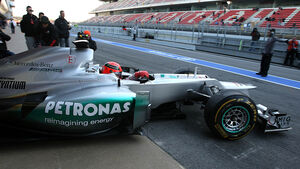 Formel 1-Test, Barcelona, 21.2.2012, Michael Schumacher, Mercedes GP