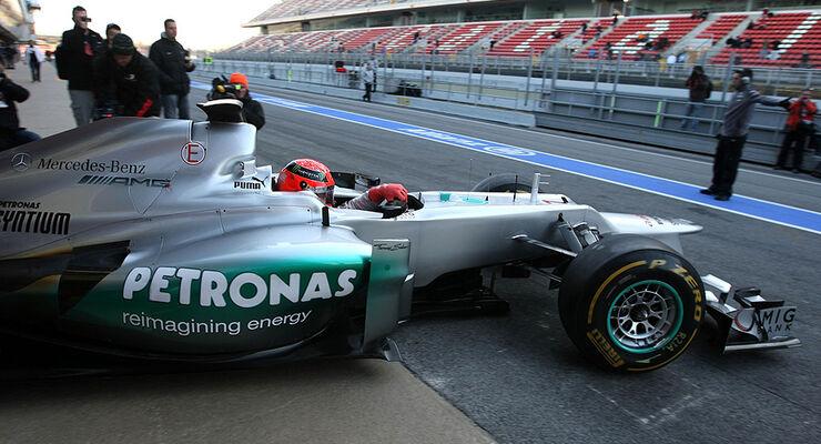 Formel 1-Test, Barcelona, 21.2.2012, Michael Schumacher, Mercedes GP