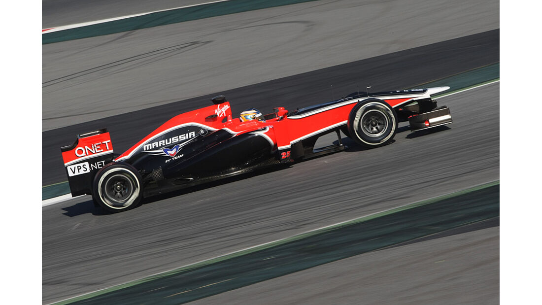 Formel 1-Test, Barcelona, 22.2.2012, Charles Pic, Marussia F1