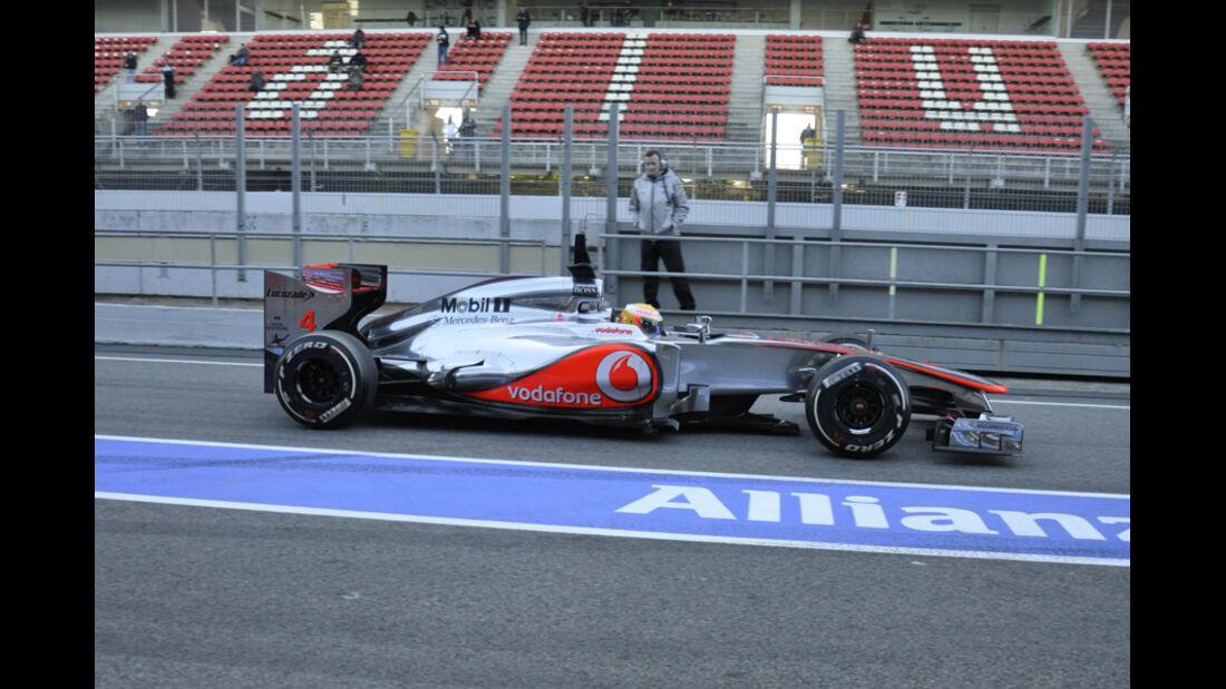Formel 1-Test, Barcelona, 22.2.2012, Lewis Hamilton, McLaren