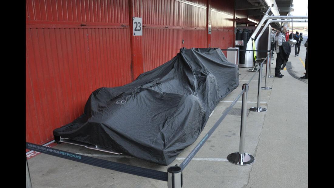 Formel 1-Test, Barcelona, 22.2.2012, Mercedes GP