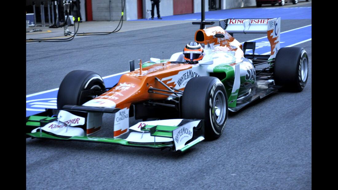 Formel 1-Test, Barcelona, 22.2.2012, Nico Hülkenberg, Force India