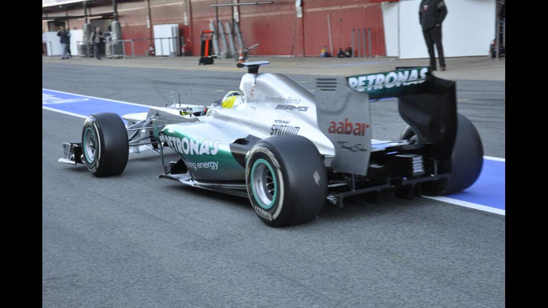 Formel 1-Test, Barcelona, 22.2.2012, Nico Rosberg, Mercedes GP