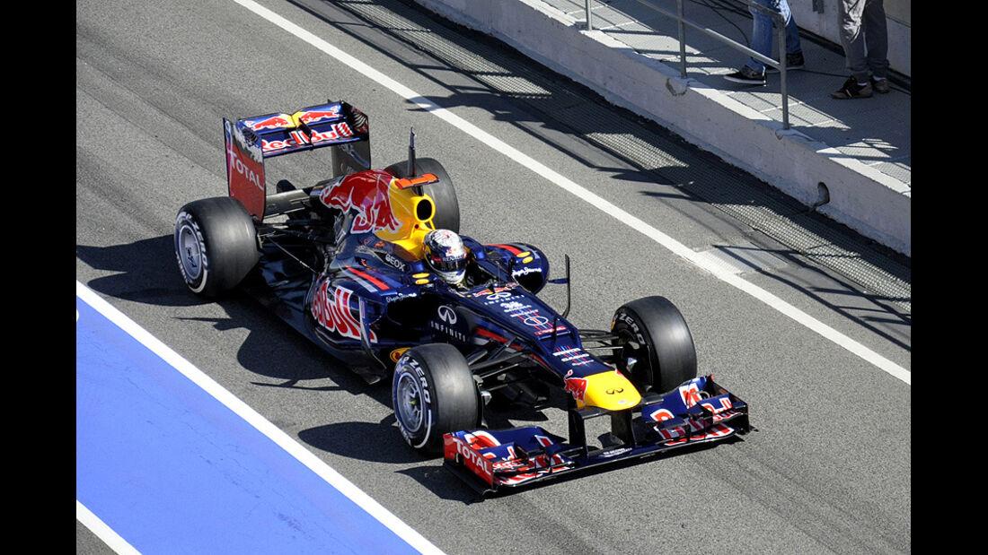 Formel 1-Test, Barcelona, 22.2.2012, Sebastian Vettel, Red Bull