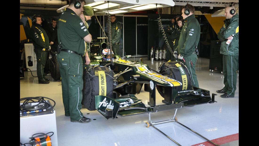 Formel 1-Test, Barcelona, 22.2.2012, Vitaly Petrov, Caterham