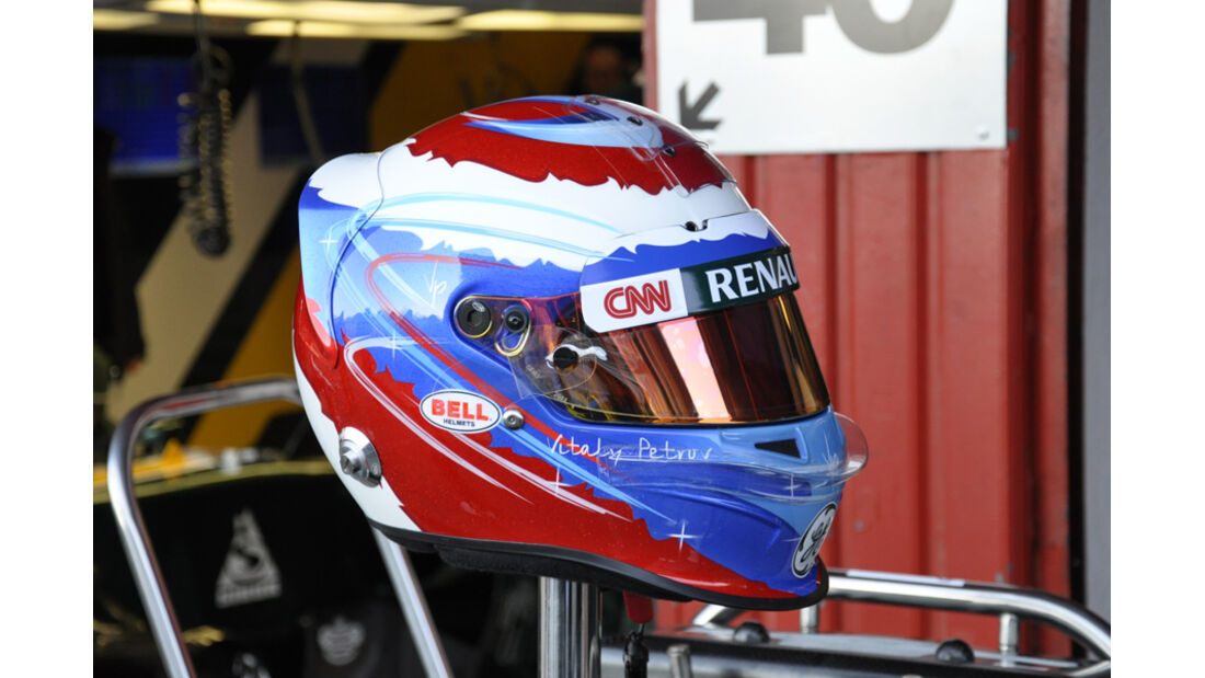 Formel 1-Test, Barcelona, 22.2.2012, Vitaly Petrov Helm, Caterham