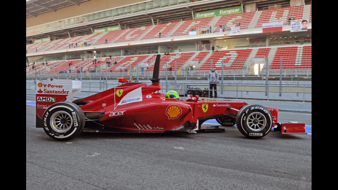 Formel 1-Test, Barcelona, 23.2.2012, Ferrari, Felipe Massa