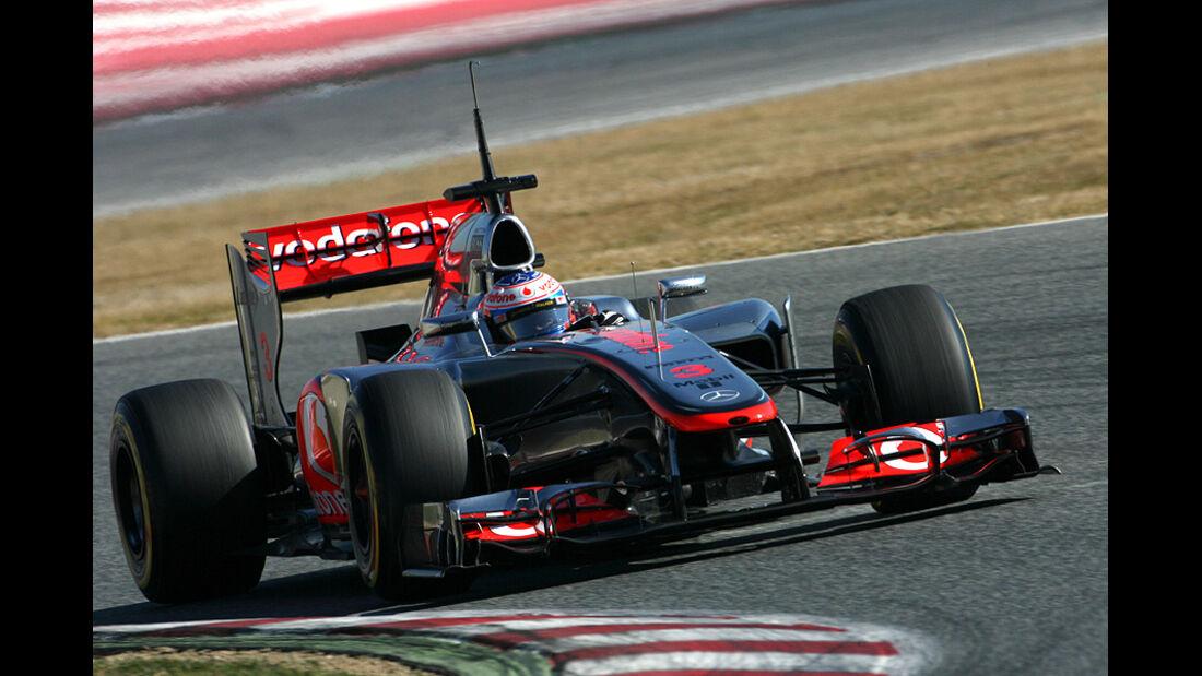 Formel 1-Test, Barcelona, 23.2.2012, Jenson Button, McLaren