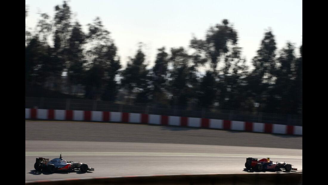 Formel 1-Test, Barcelona, 23.2.2012, Mark Webber, Jenson Button