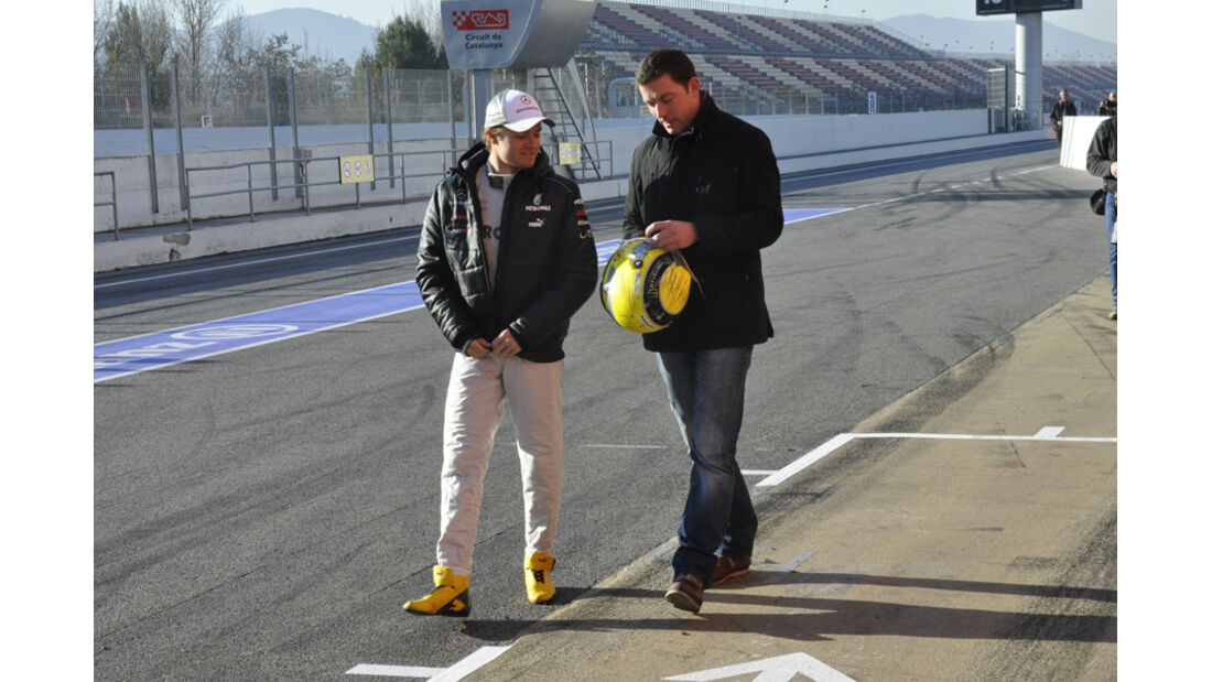 Formel 1-Test, Barcelona, 23.2.2012, Nico Rosberg, Mercedes GP