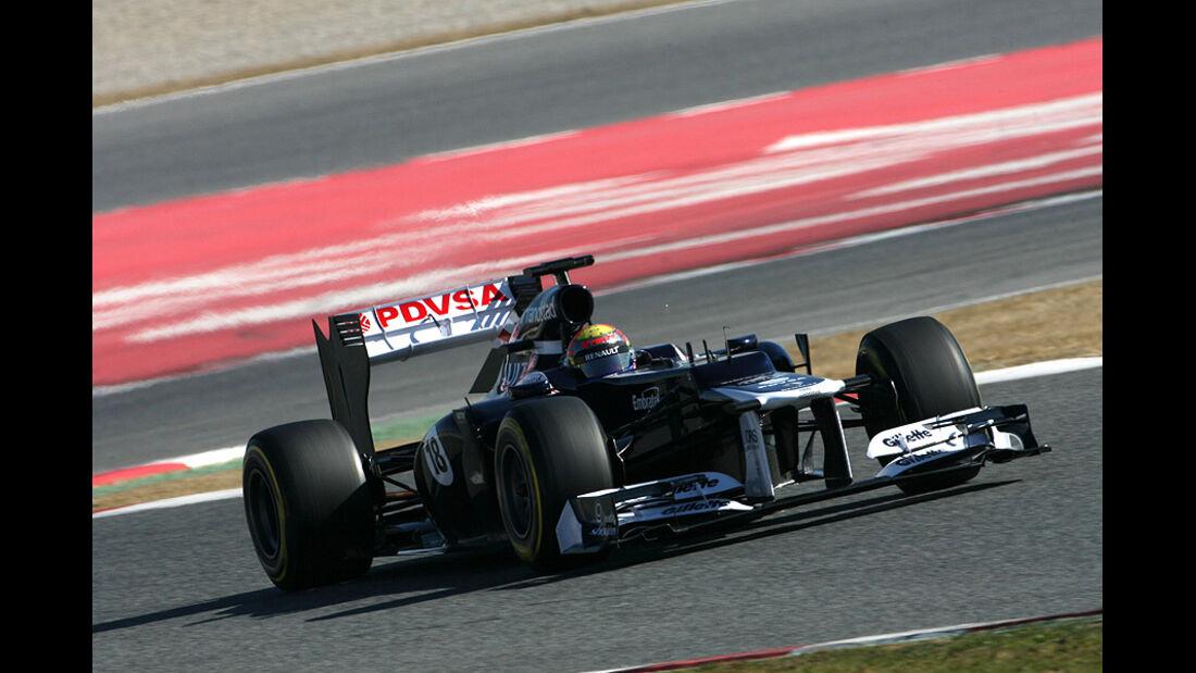 Formel 1-Test, Barcelona, 23.2.2012, Pastor Maldonado, Williams