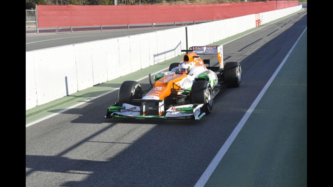 Formel 1-Test, Barcelona, 23.2.2012, Paul di Resta, Force India