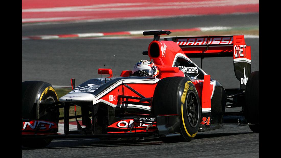 Formel 1-Test, Barcelona, 23.2.2012, Timo Glock, Marussia F1