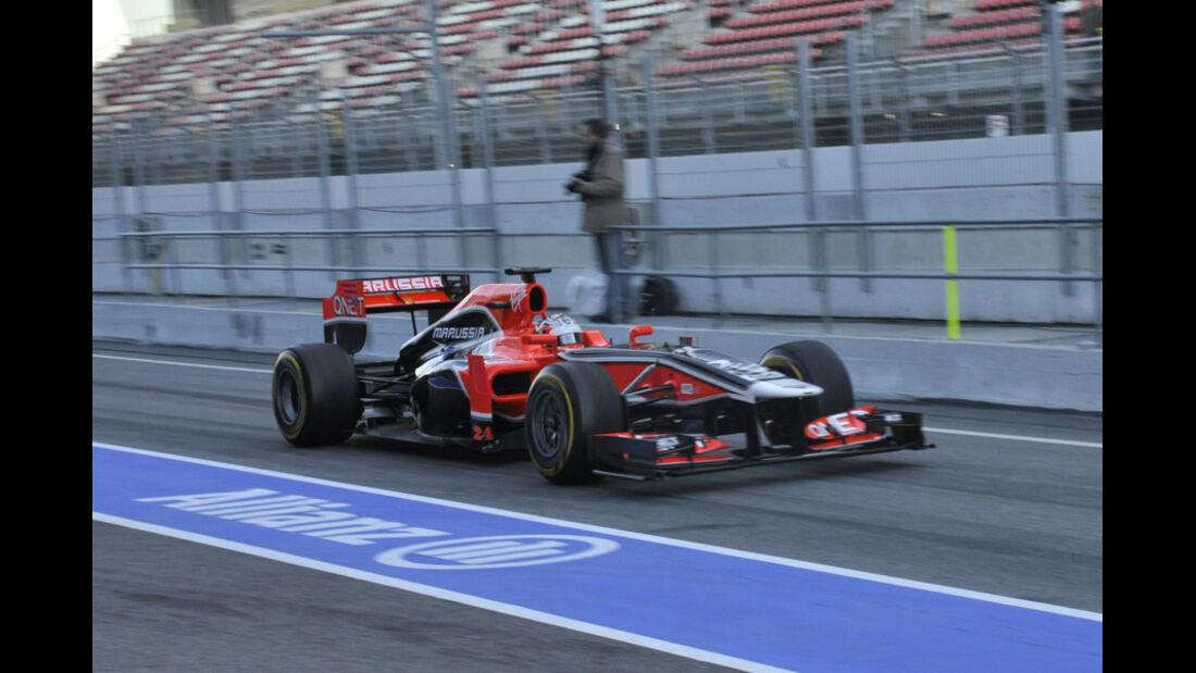 Formel 1-Test, Barcelona, 23.2.2012, Timo Glock, Marussia F2