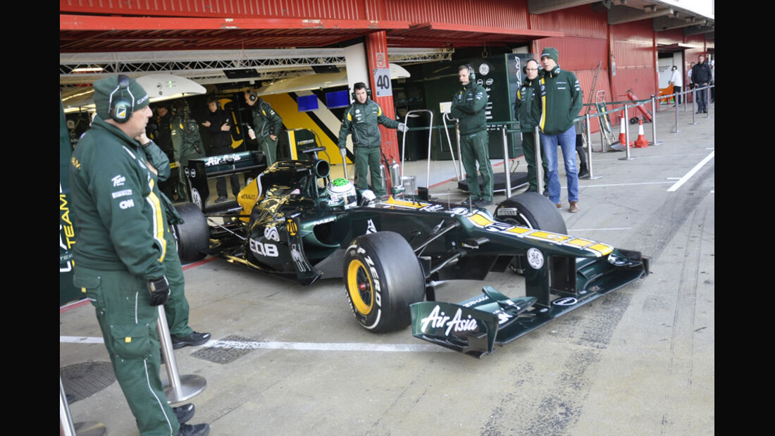 Formel 1-Test, Barcelona, 24.2.2012, Heikki Kovalainen, Caterham