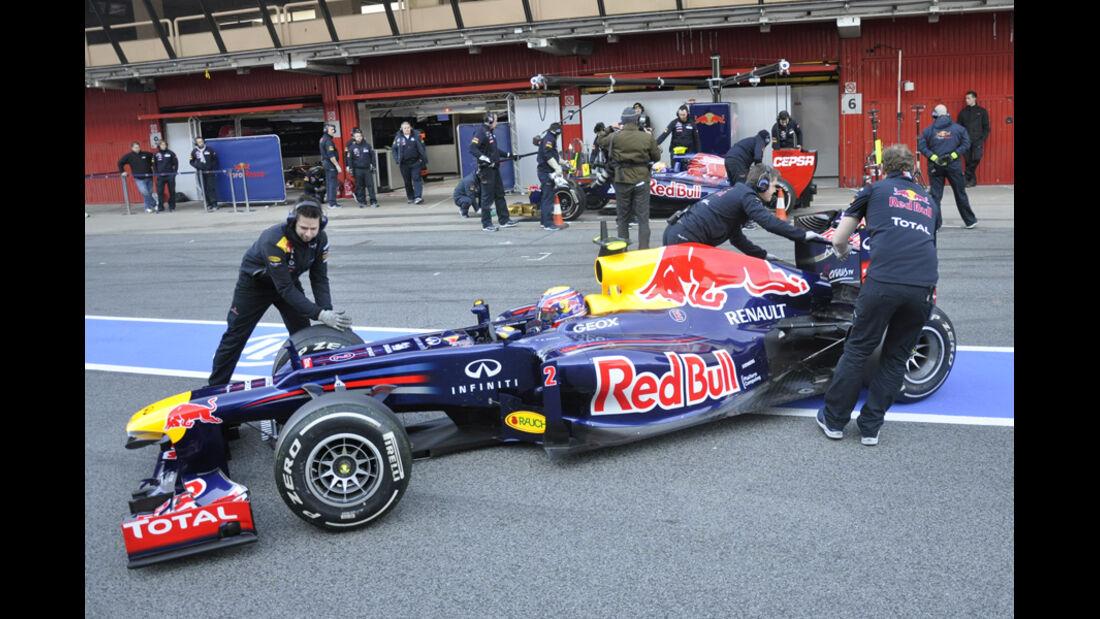 Formel 1-Test, Barcelona, 24.2.2012, Mark Webber, Red Bull