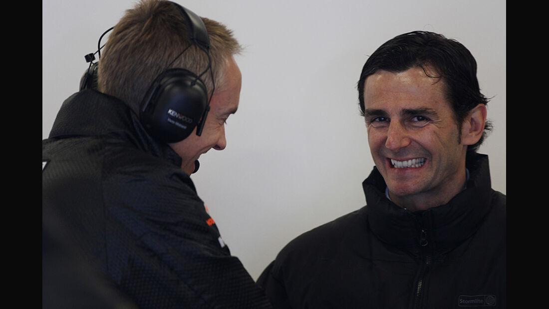 Formel 1-Test, Barcelona, 24.2.2012, Pedro de la Rosa, HRT