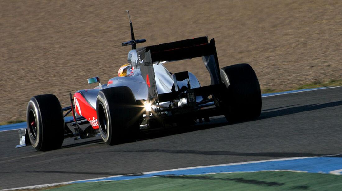 Formel 1-Test, Jerez, 10.2.2012, Lewis Hamilton, McLaren