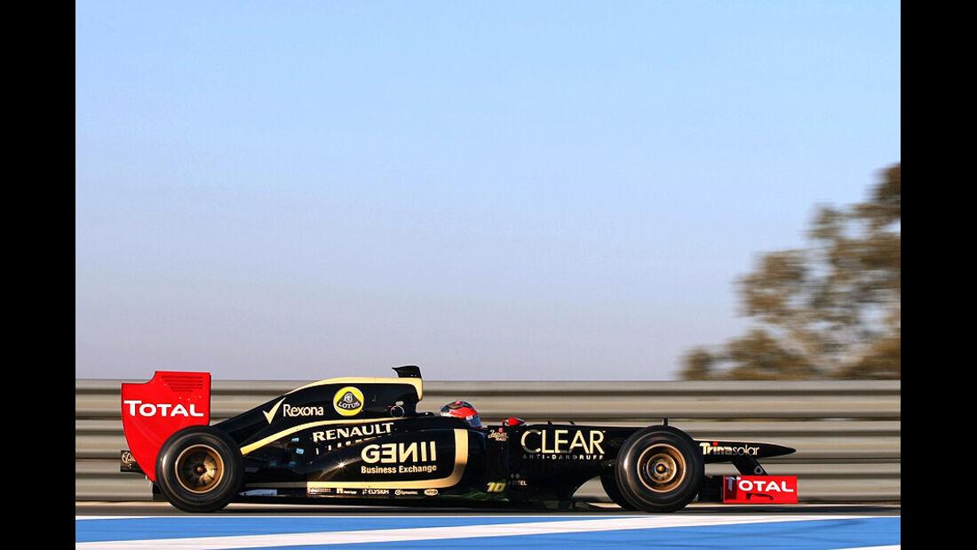 Formel 1-Test, Jerez, 10.2.2012, Romain Grosjean, Lotus Renault GP