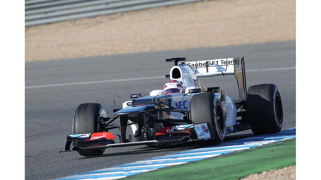 Formel 1-Test, Jerez, 7.2.2012, Kamui Kobayashi, Sauber