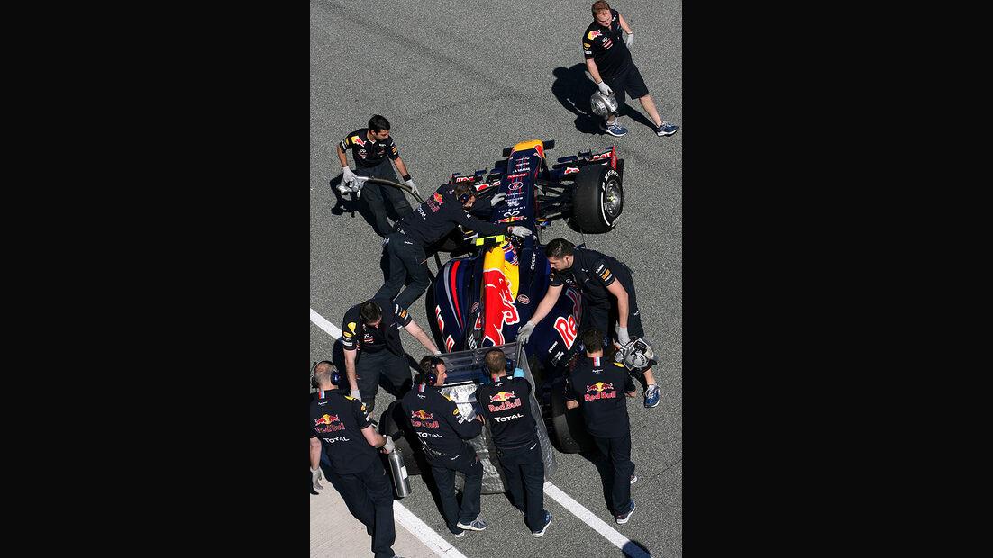 Formel 1-Test, Jerez, 7.2.2012, Mark Webber, Red Bull