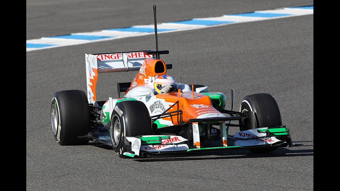 Formel 1-Test, Jerez, 7.2.2012, Paul di Resta, Force India
