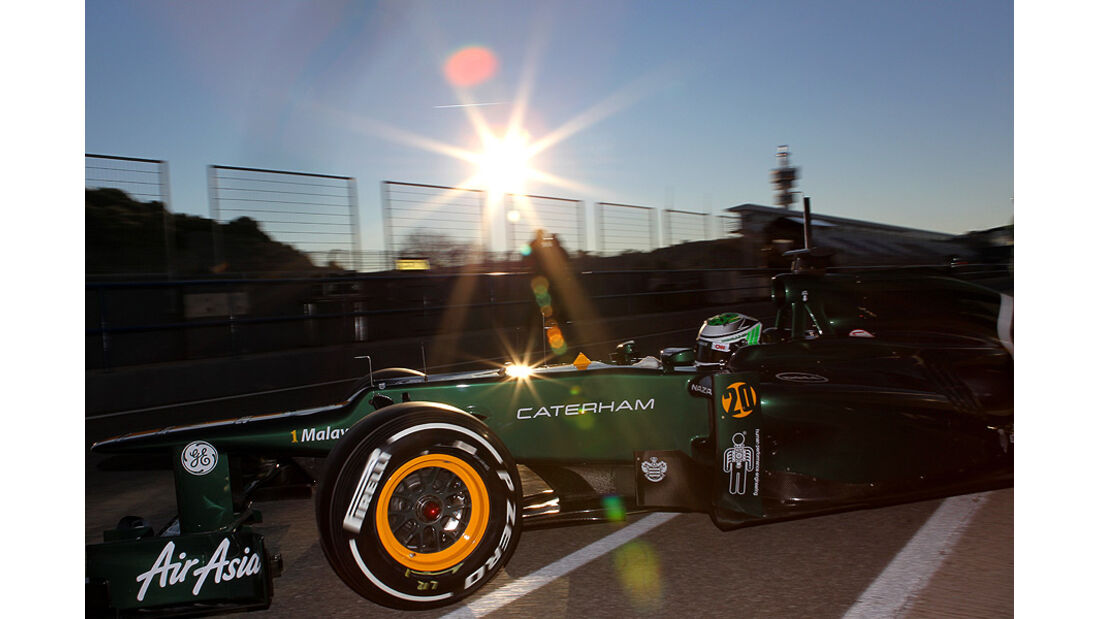 Formel 1-Test, Jerez, 8.2.2012, Heikki Kovalainen, Caterham