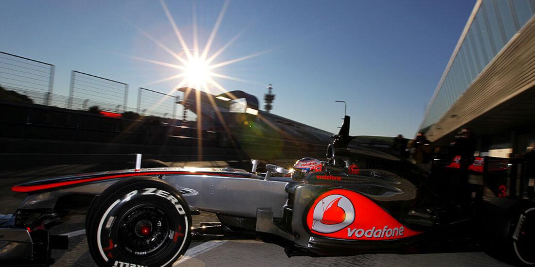 Formel 1-Test, Jerez, 8.2.2012, Jenson Button, McLaren