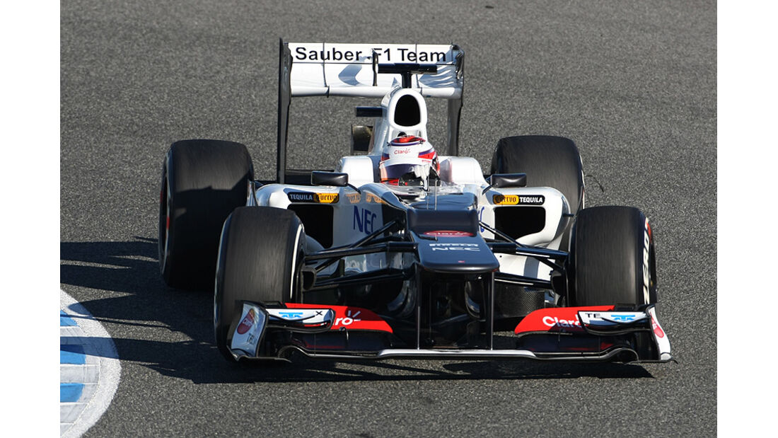 Formel 1-Test, Jerez, 8.2.2012, Kamui Kobayashi, Sauber