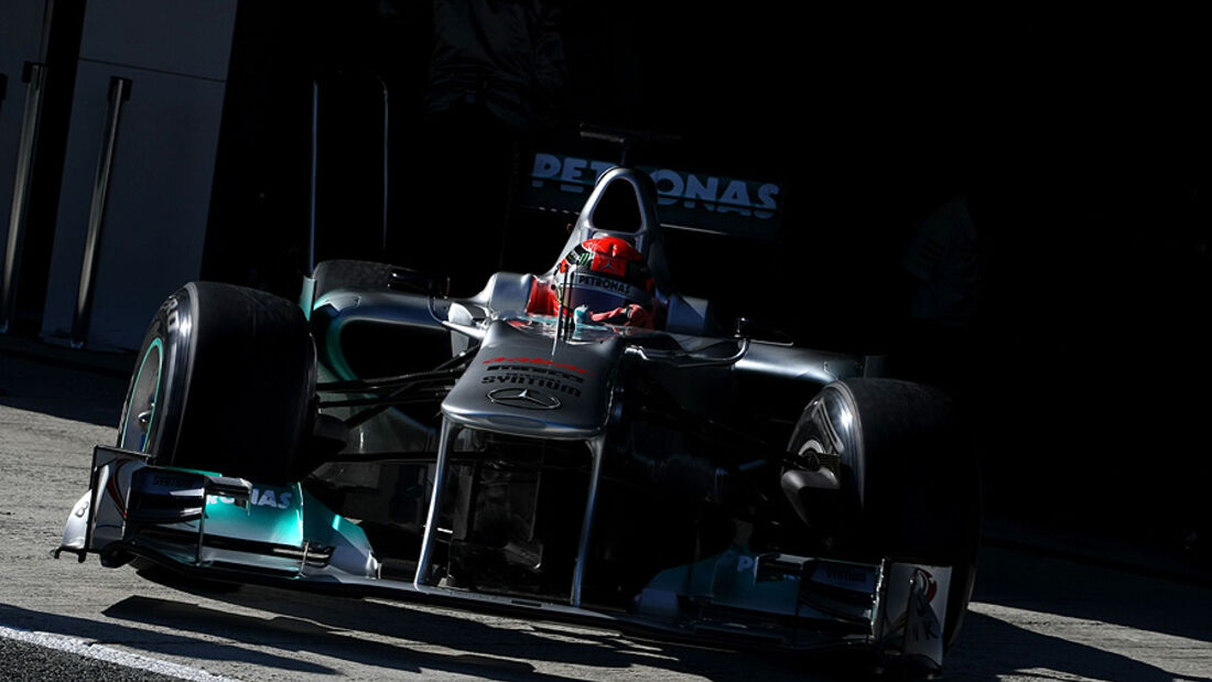 Formel 1-Test, Jerez, 8.2.2012, Michael Schumacher, Mercedes GP