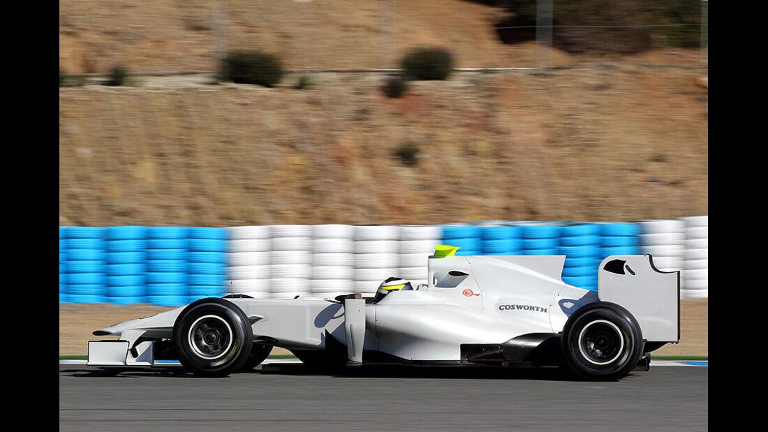 Formel 1-Test, Jerez, 8.2.2012, Pedro de la Rosa, HRT